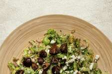 Celery Salad With Roasted Mushrooms, White Beans and Feta.