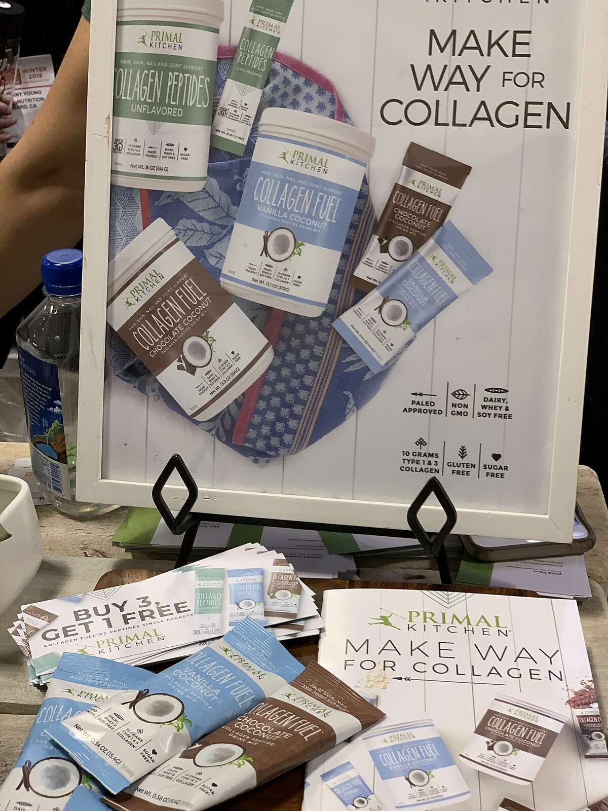 Collagen-infused products were also a noticeable trend.