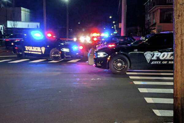 Police cordon off the intersection of Connecticut and Bishop avenues to investigate a reported fatal stabbing.