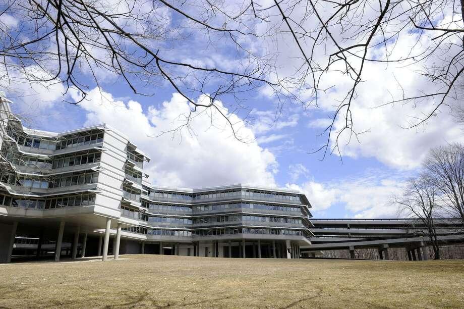 The former headquarters building of Union Carbide in Danbury, Conn. Photo: Carol Kaliff / Carol Kaliff / The News-Times
