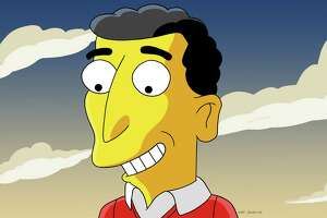 """Mike Reiss, a longtime writer for """"The Simpsons"""" — and whose image here has been """"Simpsonized"""" — will share stories about the show, including behind-the-scenes details, at Danbury Library on Jan. 26."""