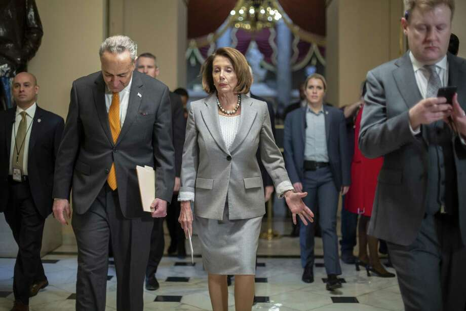 In 2013, every Senate Democrat voted for the Gang of Eight bill that called for border fencing, including Speaker of the House Nancy Pelosi and Senate Minority Leader Chuck Schumer. Photo: J. Scott Applewhite /Associated Press / Copyright 2019 The Associated Press. All rights reserved.