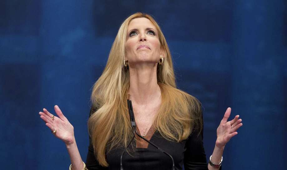 Ann Coulter, here speaking at the Conservative Political Action Conference (CPAC) in Washington in 2012, is really who, among others in the right-wing echo chamber, Trump fears — why he is being steadfast on his wall. Photo: J. Scott Applewhite /Associated Press / Copyright 2017 The Associated Press. All rights reserved.