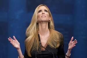 Ann Coulter, here speaking at the Conservative Political Action Conference (CPAC) in Washington in 2012, is really who, among others in the right-wing echo chamber, Trump fears — why he is being steadfast on his wall.