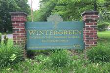The sign marking the Wintergreen Interdistrict Magnet School.