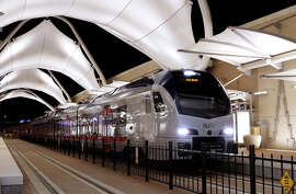 A train is now running between Dallas/Ft. Worth's Terminal B and downtown Ft. Worth.