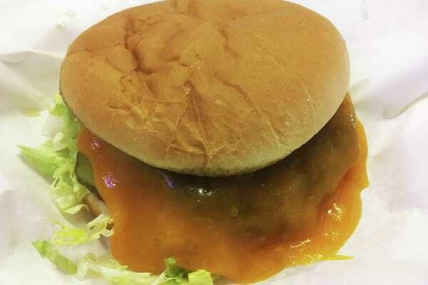 The cheddar burger ($7.25) at Diana's Burgers.