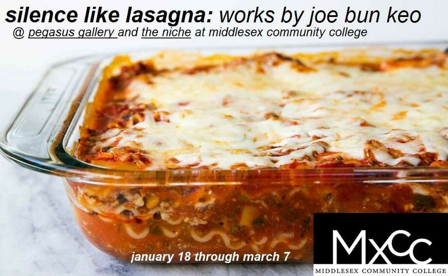 """""""silence like lasagna,"""" by Joe Bun Keo, whose work is on display at Middlesex Community College's Pegasus Gallery. Photo: Contributed Photo"""