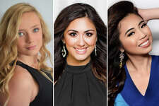 Three contestants in the 2019 Miss Katy and Bay Area pageant are pictured in this composite photo.