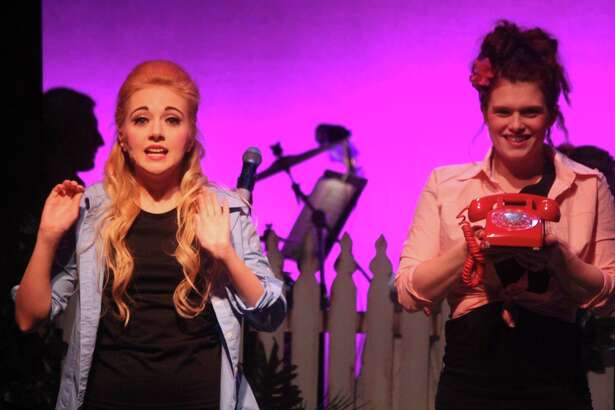 """Chelsea Dacey and Erin West Reed perform in """"The Bikinis"""" at Seven Angels Theater in Waterbury."""